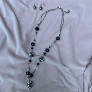 Opera Length Necklace w/ Matching Earrings